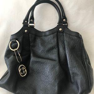 Gucci Sukey Medium Tote Bag, Black Leather